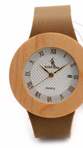 Women's Design Brand Luxury Wooden Watch With Real Leather Quartz Watch relojes marea For Women Dress Bamboo Watch