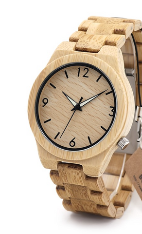 Image of Natural All Bamboo Wood Watch