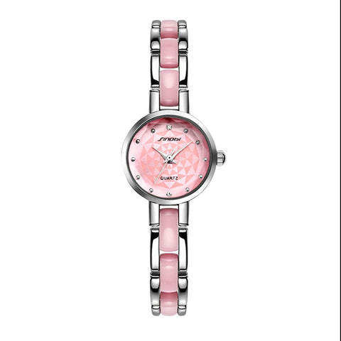 Image of Relojes mujer 2016 Sinobi Luxury Brand Diamond clock female Quartz Women Watches Ladies Silver Dress girl  Bracelet Wristwatch