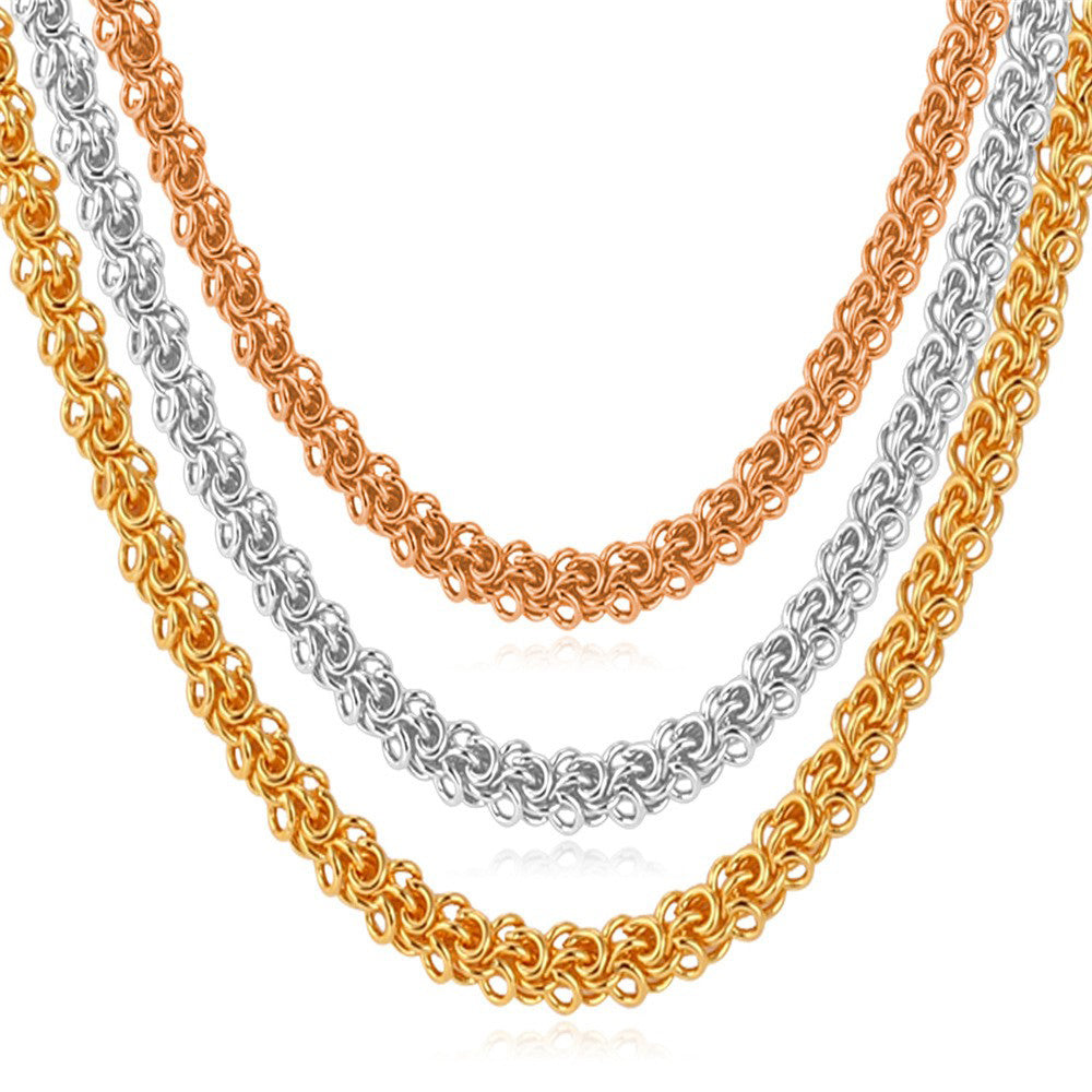 Tap to expand · Hiphop Gold Color Chains for Men Fashion Jewelry Wholesale  Rose Color Round ... 6e5424706306