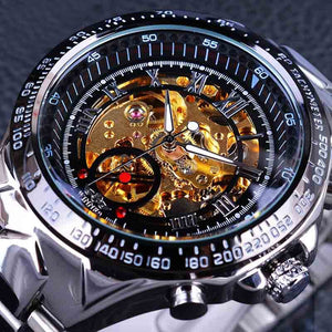 Golden Movement Inside Classic Series Skeleton Watch