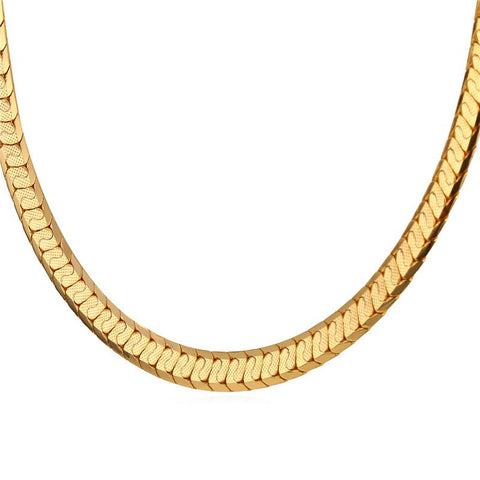 Gold Color Scale Link Chain Men Jewelry Trendy Hip Hop Punk Rock Nugget Men Necklace Wholesale N494