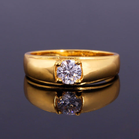 Image of Classic Cubic Zirconia Rings For Women Fashion Gold/Silver Color Top Quality Shiny Crystal Wedding Rings R305