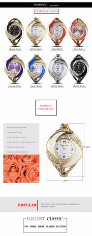 Image of Fashion Rhinestone Diamond Whirlwind Design Steel Weave Dress Wristwatch Woman Girl Ladies Bracelet Bangle Quartz watch