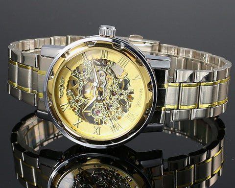 Image of Steampunk Montre Homme Skeleton Watch