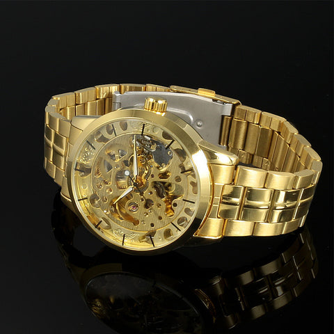 2016 New Winner Gold Watches Luxury Brand Men's Fashion Automatic Hollow Out Man Mechanical Watches Waches relogio masculino