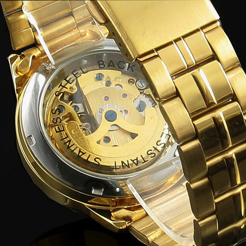 Image of 2016 New Winner Gold Watches Luxury Brand Men's Fashion Automatic Hollow Out Man Mechanical Watches Waches relogio masculino