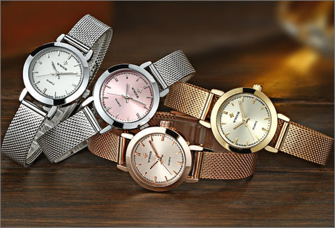 Image of Brand Luxury Women Watches Ladies Casual Quartz Watch Female Clock Silver Stainless Steel Bracelet Dress Watch relogio feminino
