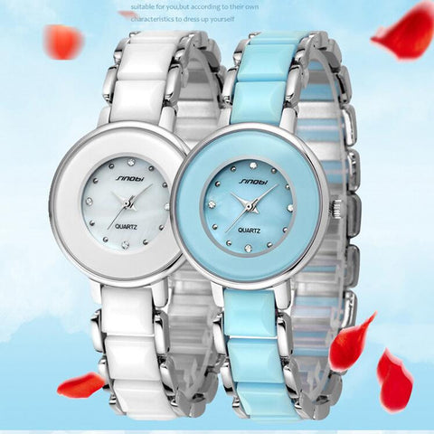 Image of 2016 Ladies Dress Watches Women Quartz steel Fashion Waterproof Luxury round Dial Relogio Feminino Japan Relojes Mujer