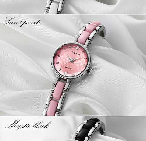 Relojes mujer 2016 Sinobi Luxury Brand Diamond clock female Quartz Women Watches Ladies Silver Dress girl  Bracelet Wristwatch