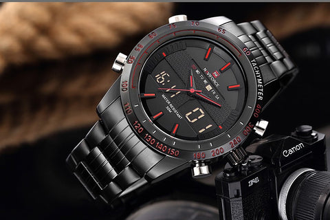 Image of Luxury Brand Men Waterproof Full Steel Watches Men's Quartz Analog LED Clock Male Sport Wrist Watch Relogio Masculino