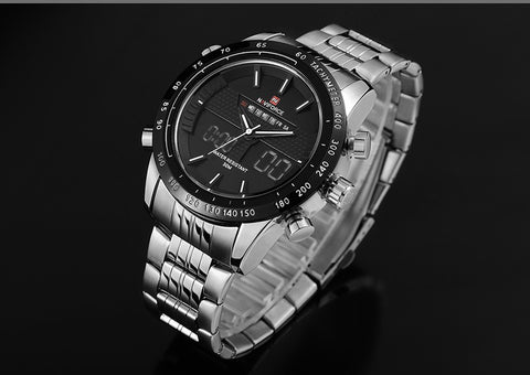 Luxury Brand Men Waterproof Full Steel Watches Men's Quartz Analog LED Clock Male Sport Wrist Watch Relogio Masculino