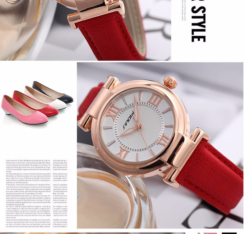 Fashion Brand Dress Gold Quartz Watch Women Clcok Female Lady Leather Strap Wristwatch Relogio Feminino Luxury Brand