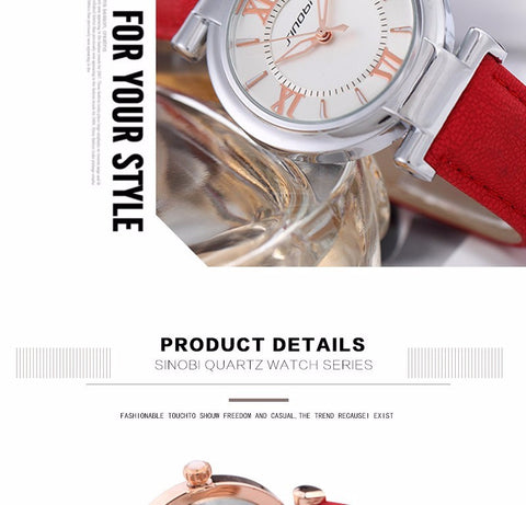 Image of Fashion Brand Dress Gold Quartz Watch Women Clcok Female Lady Leather Strap Wristwatch Relogio Feminino Luxury Brand