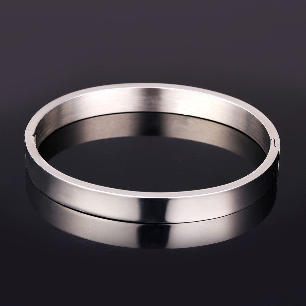 Stainless Steel Bangles For Women Men Fashion Jewelry Wholesale Round Shape Gold Color Bracelets Bangles H757