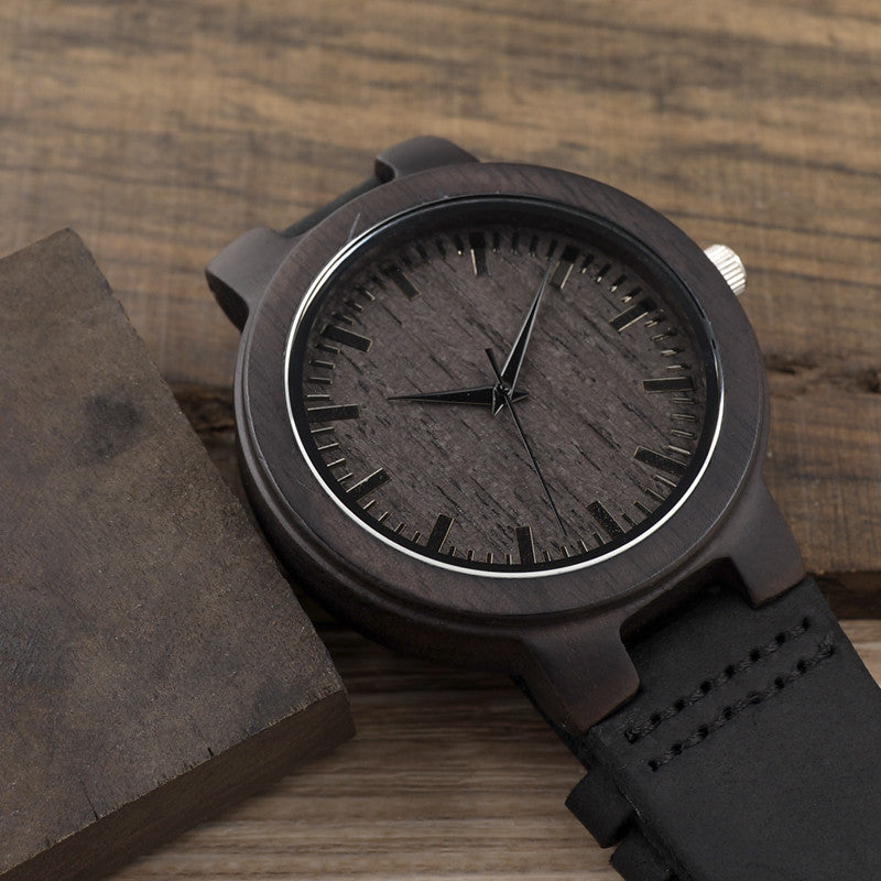 Retro Japan Quartz Movement Wood Watch