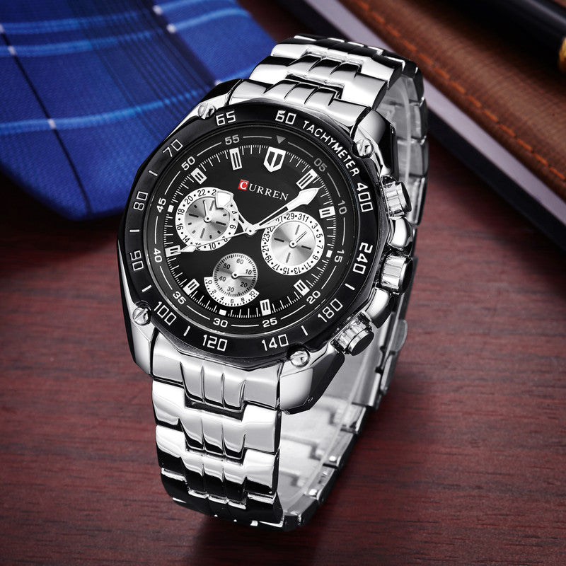 Brand Fashion Quartz Watch Men Casual waterproof Military Army Wristwatch relojes hombre Full steel Watch