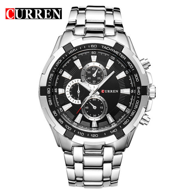 Fashion Quartz Watch men full steel Clock Male Wrist watch waterproof Relogio Masculino Casual Wristwatch
