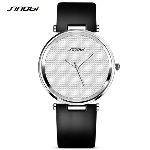 Image of Simple Luxury Brand Quartz Watch Women fashion Casual Rose Gold Silver Leather Ladies Wristwatch Clock Female Gift