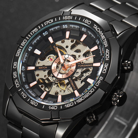 Image of 2017 Winner Luxury Sport Designer Gold Skeleton Mechanical Watch Men Alloy Male Clock Wristwatches Relogio Masculino