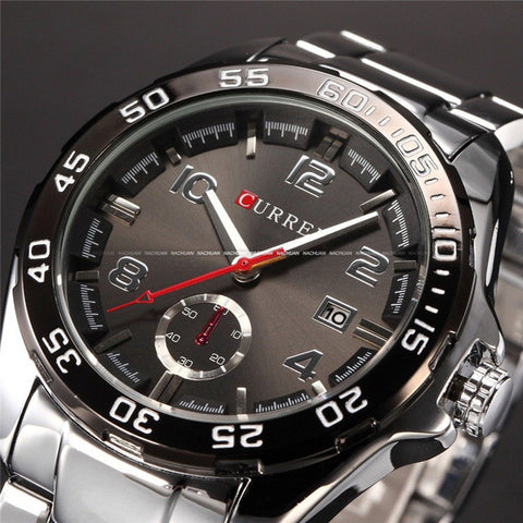 Relogio Masculino Curren Luxury Brand Stainless Steel Strap Analog Date Men's Quartz Watch Casual Watch Men Wristwatch