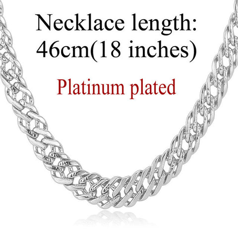 Male Chain Necklace Trendy Jewelry Wholesale 5MM Gold/Silver/Rose Gold/Black Color Italian Link Chain Necklace Men Gift N357