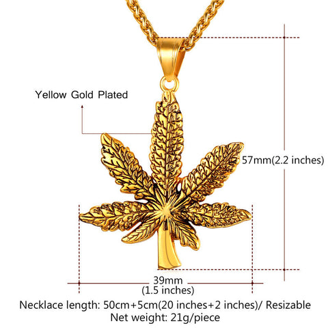 Image of Brand Maple Leaf Charm Necklace Stainless Steel Gold Color Chain & Pendant For Men/Women Fashion Jewelry 2017 New P1016