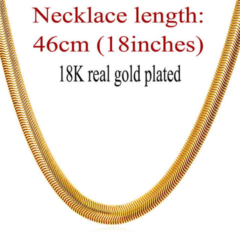 Image of Snake Chain Hip Hop Jewelry For Men Necklace Wholesale Gold Color Stainless Steel Male Gift Rock Kpop Rapper Necklace N565