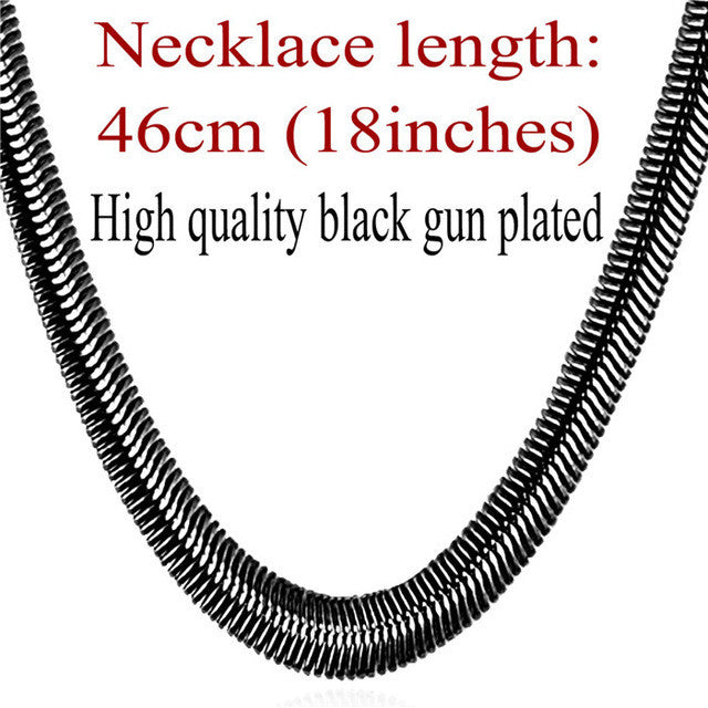 Snake Chain Hip Hop Jewelry For Men Necklace Wholesale Gold Color Stainless Steel Male Gift Rock Kpop Rapper Necklace N565