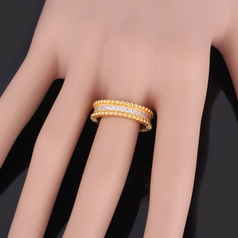 Luxury AAA Cubic Zirconia Ring Jewelry Wholesale Gold/Silver Color Trendy Party Gift Round Rings Women/Men Jewelry R328