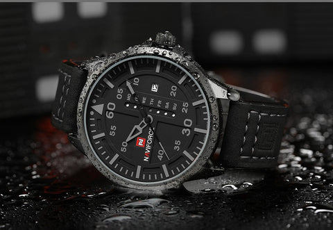 Top Luxury Brand Men Sports Watches Men's Quartz Date Clock Man Leather Army Military Wrist Watch Relogio Masculino