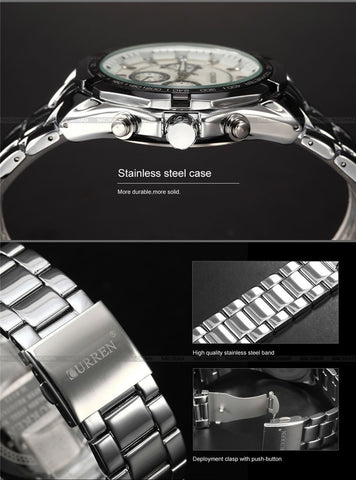 Image of Relogio Masculino Curren Luxury Brand Stainless Steel Strap Analog Date Men's Quartz Watch Casual Watch Men Wristwatch