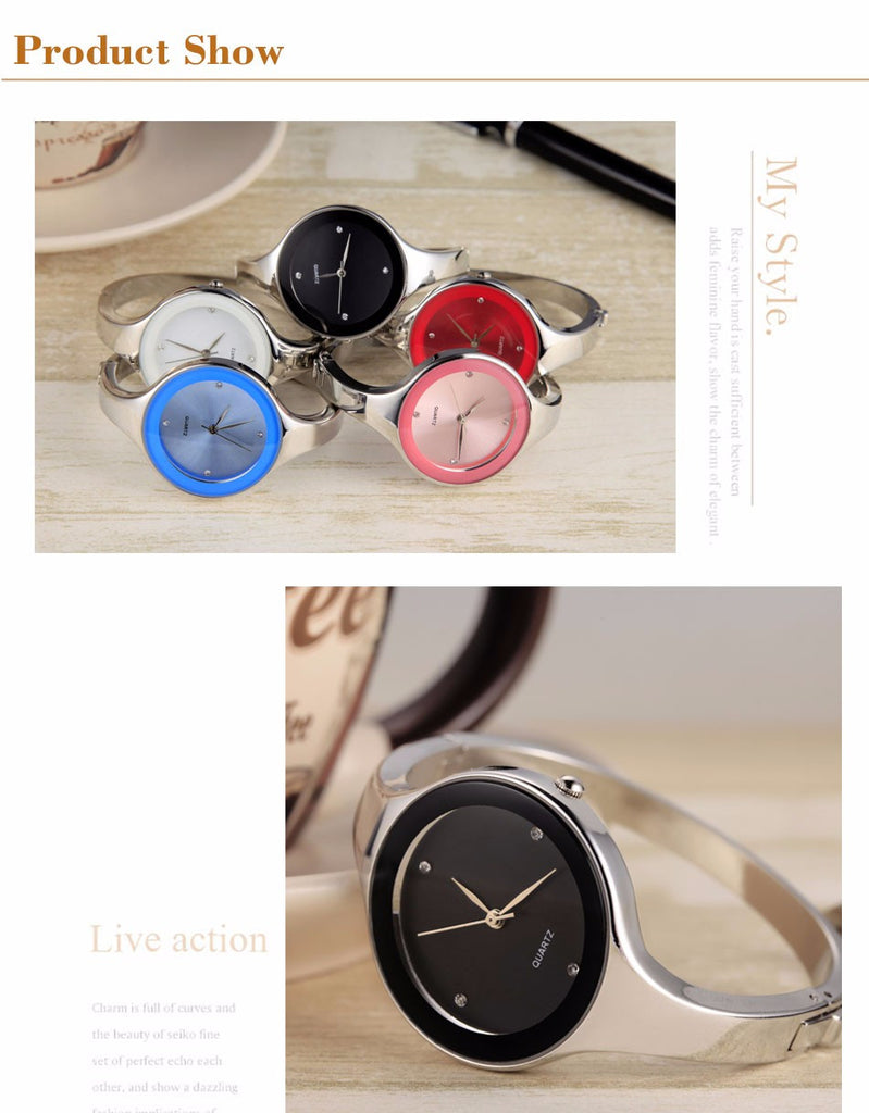 Luxury Brand Fashion Quartz Watch Women Ladies Stainless Steel Bracelet Watches Casual Clock Female Dress Gift Relogio
