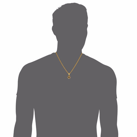 Soccer Necklaces Men Jewelry Gold Color Stainless Steel Fitness Football Sport Pendant & Chain Fathers Day Gifts For Dad P918