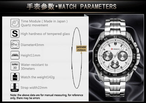Image of Brand Fashion Quartz Watch Men Casual waterproof Military Army Wristwatch relojes hombre Full steel Watch
