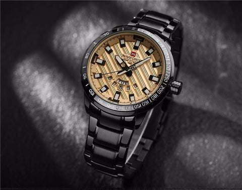 2017 Gold Watch Men Watches Top Brand Luxury Famous Wristwatch Male Clock Golden Quartz Wrist Watch Relogio Masculino