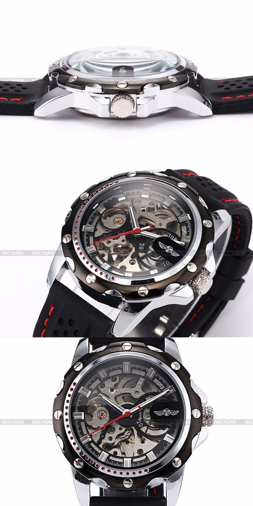 Relogio Masculino Mechanical Skeleton Watch