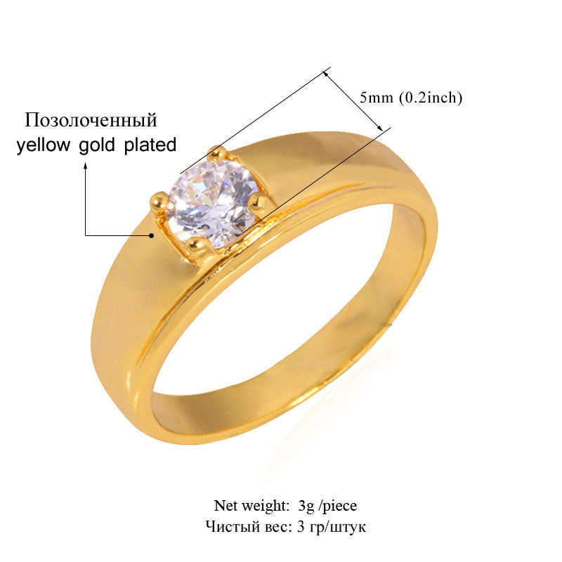 Classic Cubic Zirconia Rings For Women Fashion Gold/Silver Color Top Quality Shiny Crystal Wedding Rings R305