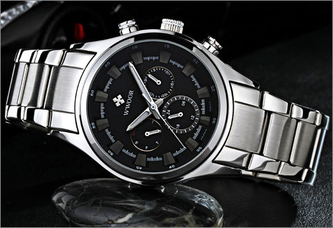 Image of Top Brand Luxury Men Sports Watches Men's Quartz 24 Hours Date Clock Male Waterproof Black Steel Strap Army Military Wrist Watch