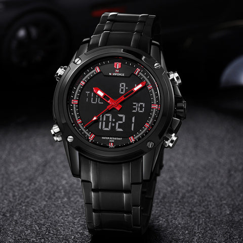 Image of Luxury Brand Men Military Sports Watches Men's Quartz LED Hour Analog Clock Male Full Steel Wrist Watch Relogio Masculino