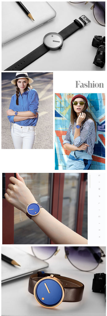 Top Brand Quartz Watch Women Casual Fashion JAPAN Leather Analog Wrist Watch Minimalist Designer Relogio Business Unisex gift