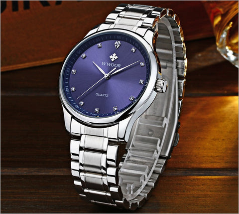 New Arrival Brand Men Watches Men's Waterproof Casual Quartz Watch Diamonds Hour Stainless Steel Sports Wrist Watch Male Relogio