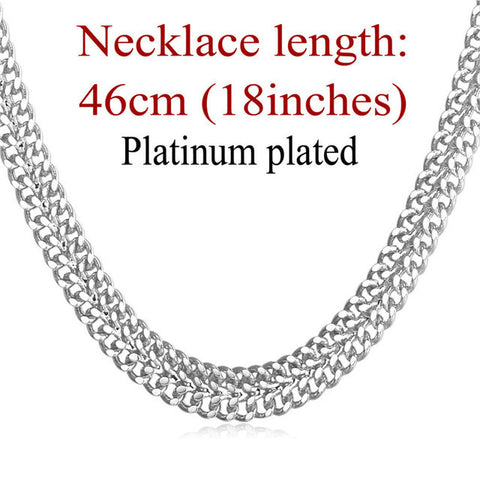 Fashion Hiphop Jewelry Gold Color Chain For Men Collier Party Gift Trendy 6 MM Wide Mesh Link Chain Necklace Wholesale N429