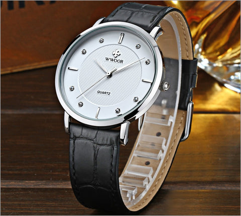 Image of Men Watches New Luxury Brand Ultra Thin Full Genuine Leather Clock Male 50m Waterproof Casual Sport Watch Men Wrist Quartz Watch