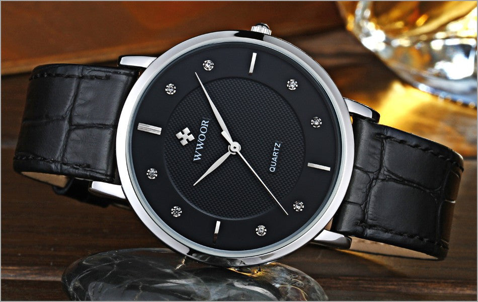 Men Watches New Luxury Brand Ultra Thin Full Genuine Leather Clock Male 50m Waterproof Casual Sport Watch Men Wrist Quartz Watch