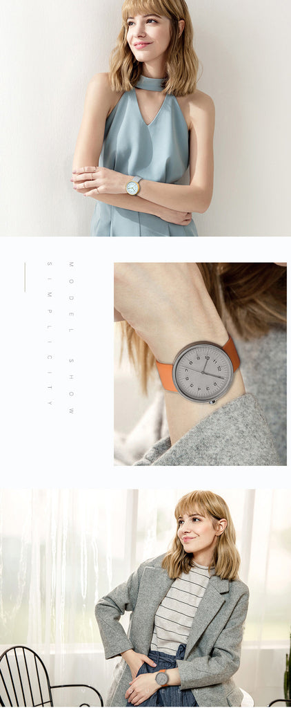 Top Luxury Brand Quartz Watch Women Fashion Leather strap Casual Japan quartz-watch Classic Creative clock female New