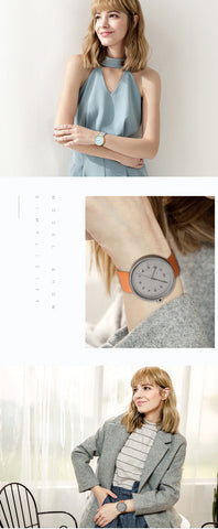 Image of Top Luxury Brand Quartz Watch Women Fashion Leather strap Casual Japan quartz-watch Classic Creative clock female New