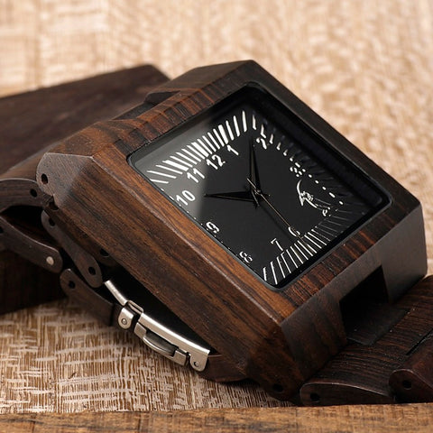 Image of Analog Black Sandal Wood Watch