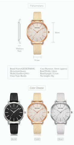 Top Luxury brand Fashion Quartz Watches Women Silver Wristwatch Casual Leather Ladies Dress Clock Female New relogio
