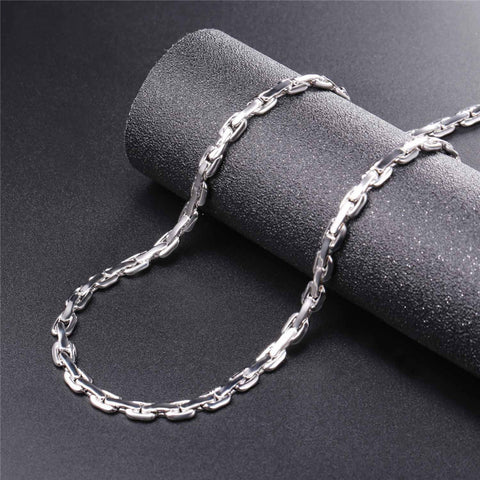 Image of Cable Link Chain Bracelet Necklace Jewelry Set For Men Hip Hop Silver/Gold Color Choker Bracelets Set Wholesale S1016